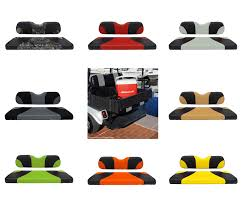 picture of rhino 900 series club car ds aluminum rear flip seat kit choose your