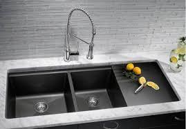 black undermount sink. Beautiful Undermount Slate Black Undermount Kitchen Sinks With Drainer On Sink A