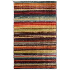 mohawk home boho stripe multi 6 ft x 9 ft area rug
