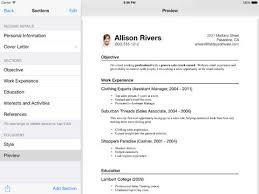 iPad Screenshots. resume apple store ...