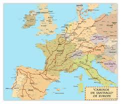 el camino de santiago compostela pilgrimage map traveling Camino De Santiago Map el camino de santiago compostela pilgrimage map camino de santiago mapa