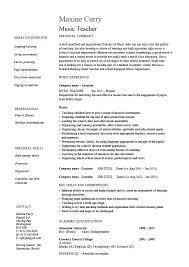 Music Teacher Resume Sample Resume Featured Documents Music Resume