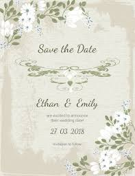 Save The Date Cards Templates Vintage Save The Date Card Template Wedding Invitation Templates
