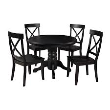home styles black 5 piece dining set with round dining table