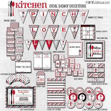 Kitchen Shower Kitchen Bridal Shower Printable Collection Mimis Dollhouse
