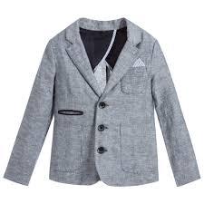 Boys Designer Blazer Boys Blue Linen Blend Blazer Boys Clothes Blazer Blazer