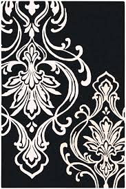 rug area rugs clearance fashionable black and white damask
