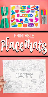 Not suitable for wrapping food. Free Printable Thanksgiving Placemat Craft Coloring Placemats