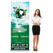 Retractable Display Stands SilverStep 100x100 Retractable Banner Stand San Diego 39