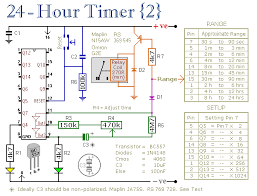 two simple 24 hour timer circuit schematics ideally