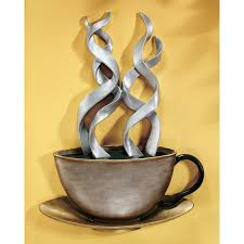 metal coffee decor on wall art for kitchens metal with metal coffee decor left handsintl