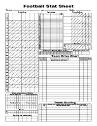 Football Stat Sheet 2019