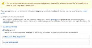 Read Only Mode Drupal Org