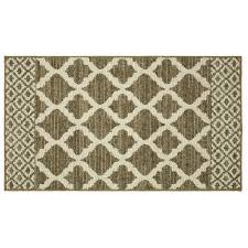 mohawk home modern basics moroccan lattice dark khaki cream 8 ft x 10 ft