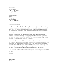 professional letter format word letter of re mendation template word 5