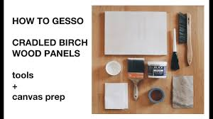 how to gesso a wood panel avoid lines and drips part 1