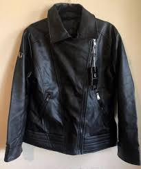 details about vg world collection men s faux leather jacket black sz m