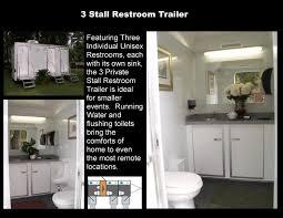 bathroom trailer rental. Brilliant Rental Bathroom Trailer Rental 3 Stall Restroom W With