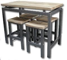 Table Haute Pour Cuisine Avec Tabouret Idée De Modèle De Cuisine