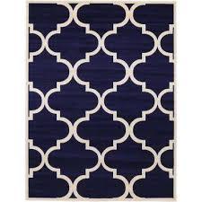 trellis navy blue 9 x 12 rug navy