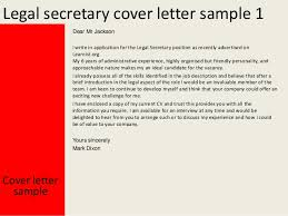 Sample Cover Letter Legal Secretary Professional Litigation Legal
