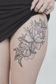 Peony Flower Thigh Tattoo Tattoo Sesterské Tetování Tetování