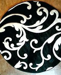 wonderful black and white circle rug the worlds catalog of ideas round area rugs rugby shirt