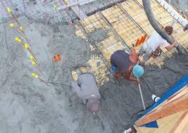 concrete floor slab second pour