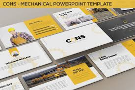 Mechanical Design Ppt Cons Mechanical Powerpoint Template By Slidefactory