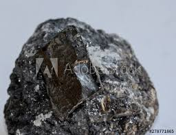 Piece Natural Specimen Of Anthracite Coal With A Submetallic