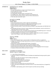 Tester Resumes Manual Tester Resume Samples Velvet Jobs