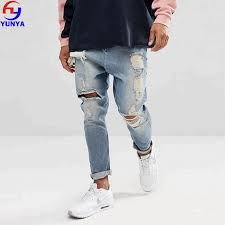 Light Blue Jeans Streetwear 2018 Fashion Streetwear Men Vintage Light Wash Blue Loose Distressed Jeans Buy Distressed Jeans Men Loose Jeans Men Streetwear Jeans Product On