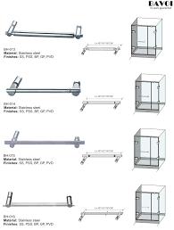 bathroom towel bar manufacturer for glass door bh 013 bh 014 bh 015 bh 016