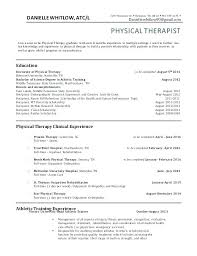 Resume For Physical Therapist Resume Physical Therapist Thrifdecorblog Com