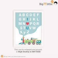 alphabet letter train print alphabet