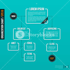Background For Organizational Chart Organization Chart Template On Turquoise Background Eps10