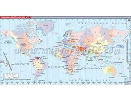 Buy World Time Zone Map Welt Zeitzonen Karte World Time