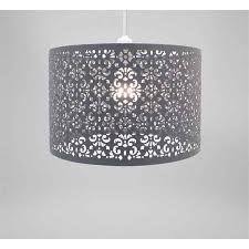 country club dark grey 29cm moroccan ceiling light lamp shade lampshade pendant