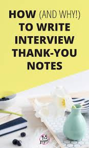 43 Best Job Interview Thank You Note Examples And Wording Images