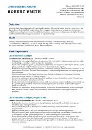 Lead Business Analyst Resume Samples QwikResume Custom Sample Resume For Technical Lead