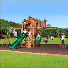 Big Backyard Ashberry Wooden Swing Set Toys Games Outdoor Play Big Backyard Ashberry Wood Swing Set