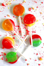 swirled homemade lollipops