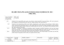 5 rpp sd kelas 1 semester 2 pengalamanku. S Ilabus Basa Bali Kls X K 13
