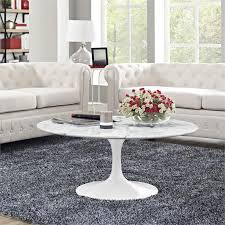 flower round coffee table mid century saarinen inspired coffee tables modernselections com