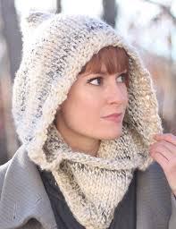 Knit Hooded Cowl Pattern