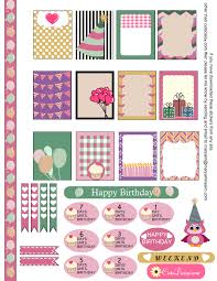 Printable Calendar Sample Unique Free Printable Birthday Sampler Sticker Kit For Erin Condren Life