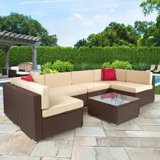 wicker outdoor furniture 7 piece