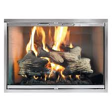 classic fireplace glass door