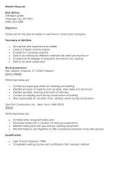 Welder Resume Examples Simple Samples Of Professional Resume Free Welding Resume Examples