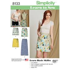 Simplicity Skirt Patterns Classy Misses Learn To Sew Wrap Skirts Simplicity Sewing Pattern 48 Sew